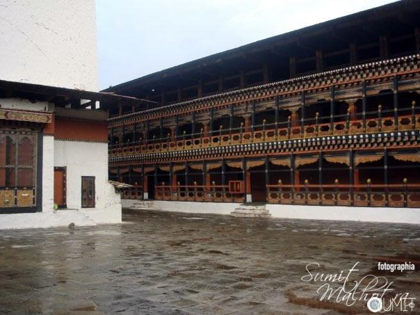 Corridors of Power - The Courtyard at Paro Dazong, Bhutan