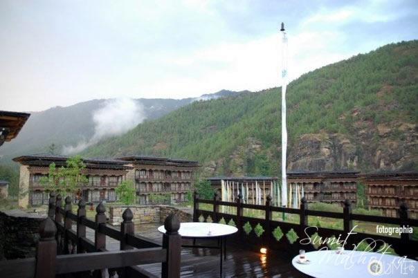 The Deck at Hotel Zhivaling, Bhutan