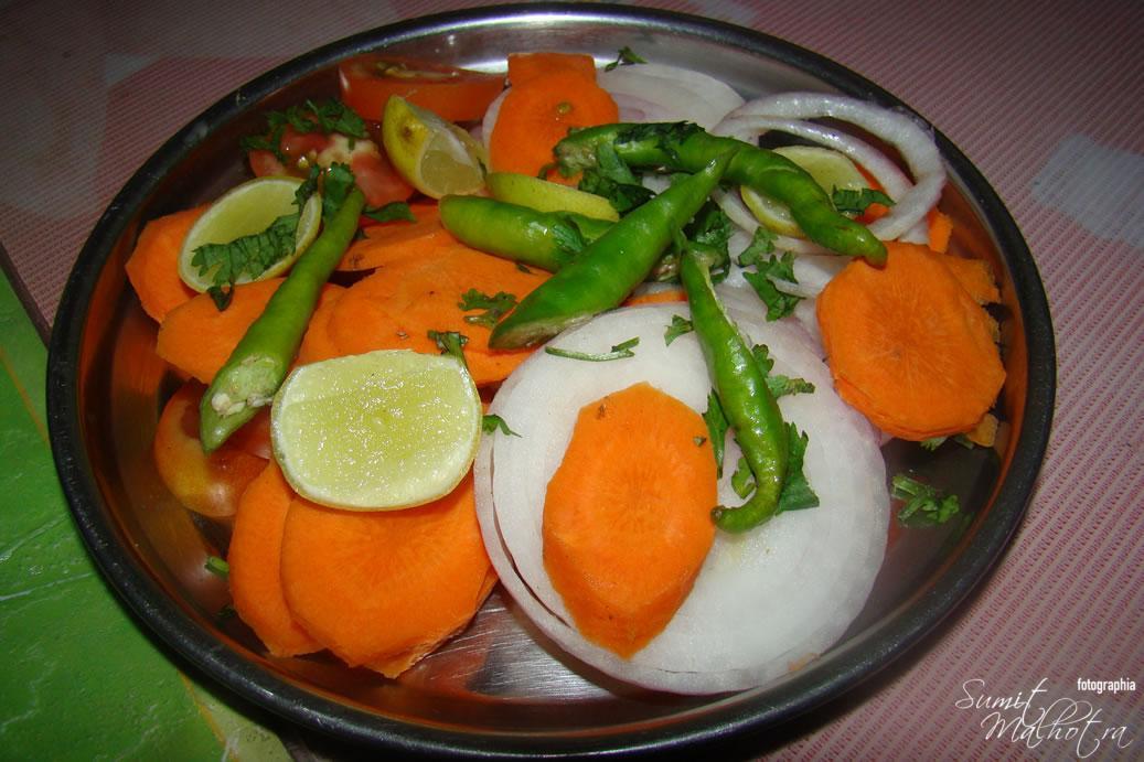 Salad Plate @ Hotel New Zaiqa, Bhopal