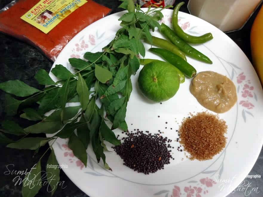Ingredients for East Indian Bottle Masala Curry Chicken