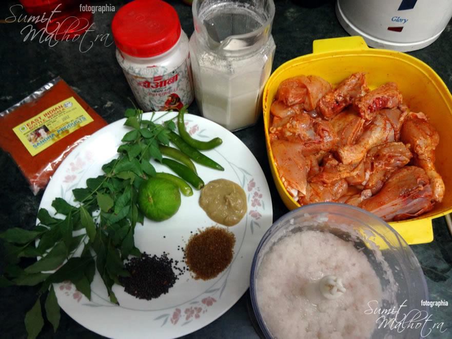 All Ingredients for East Indian Bottle Masala Curry Chicken
