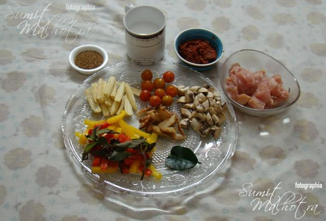 Ingredients for Thai Chicken in Red Curry