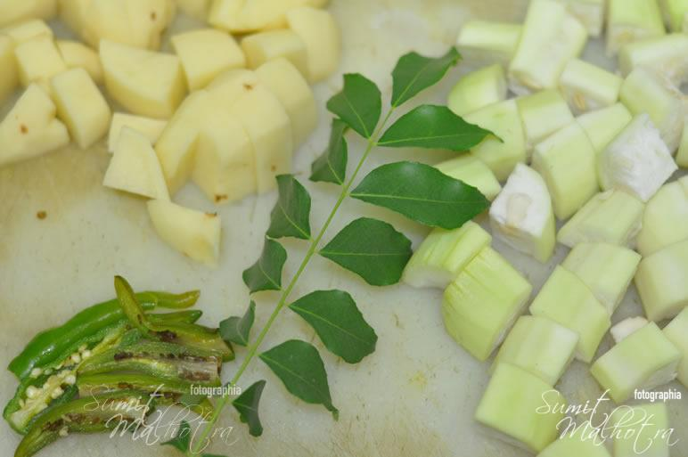 Basic Ingredients for Lauki Aloo ki Sabzi