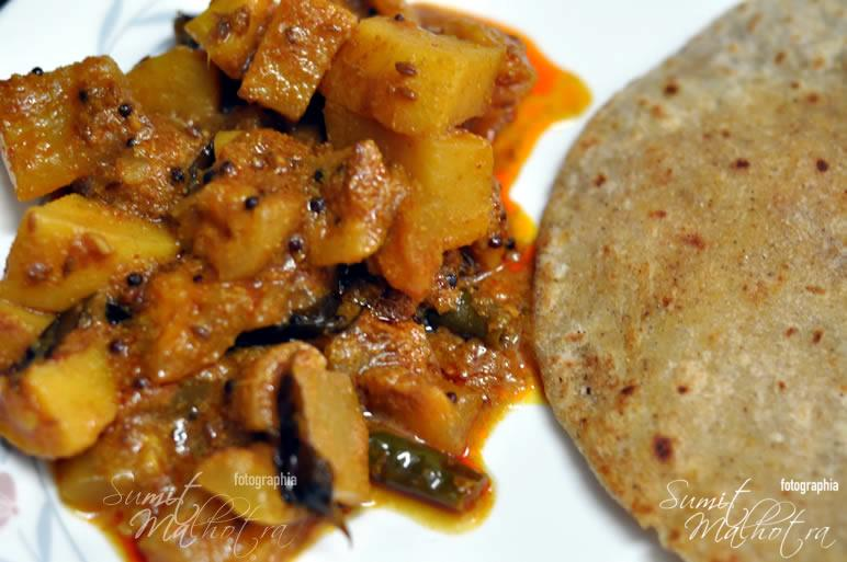 Serve Lauki Aloo Ki Sabzi with Hot Paranthas