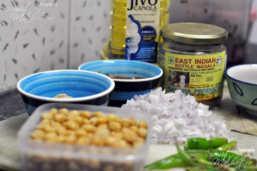 Ingredients for East Indian Bottle Masala Chole