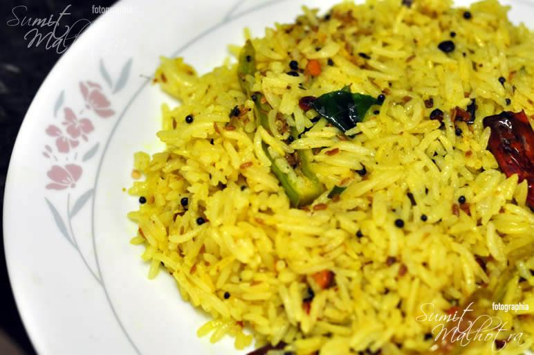 Lemon Rice Recipe is all done. Serve Hot