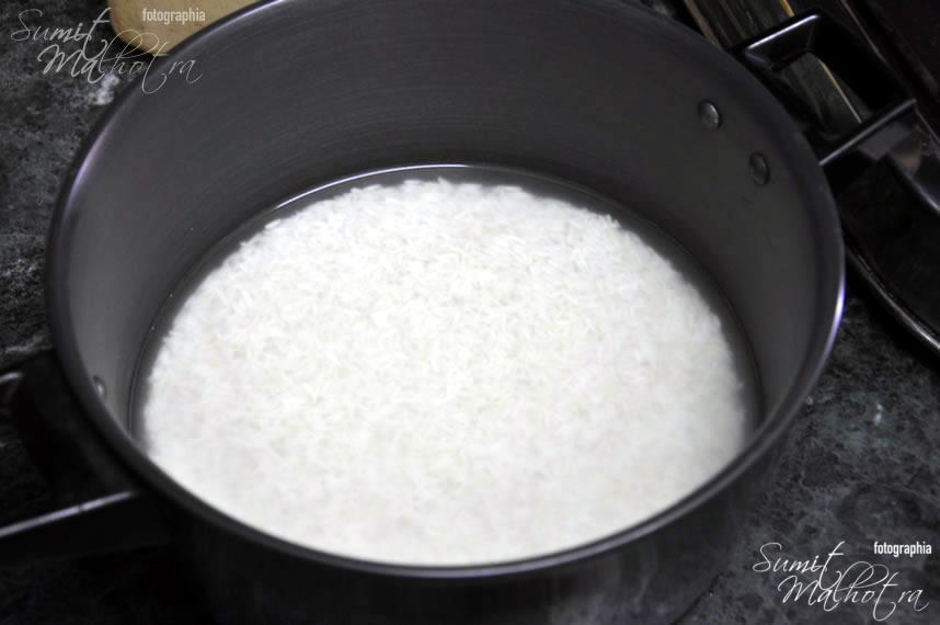 Wash and soak basmati rice for at least one hour