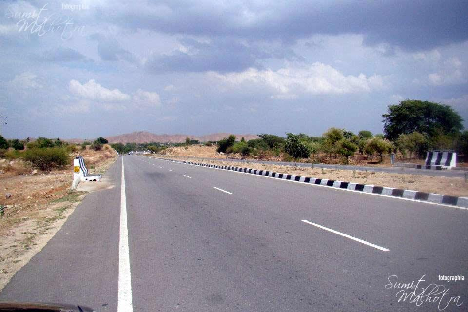 This is NH-27 .. Nothing less that the international highways. Suitably impressed.