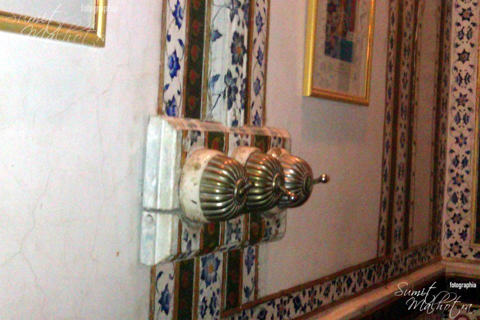 Remember the flip flop switches from the old times. They still adorn the walls of the Laxmi Niwas Palace.