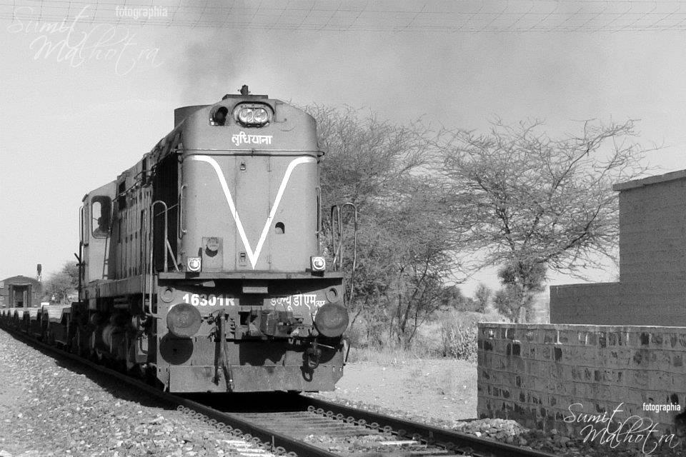 Chuk chuk gaadi, just that this was a goods train. If I tell you the stuff it was carrying, someone may just shoot you