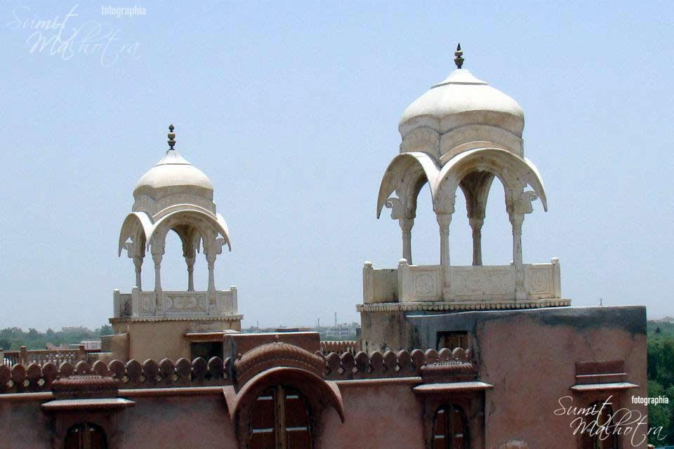 Royal Canopies at Junagarh Fort
