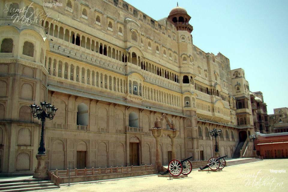 Side view of junagadh fort