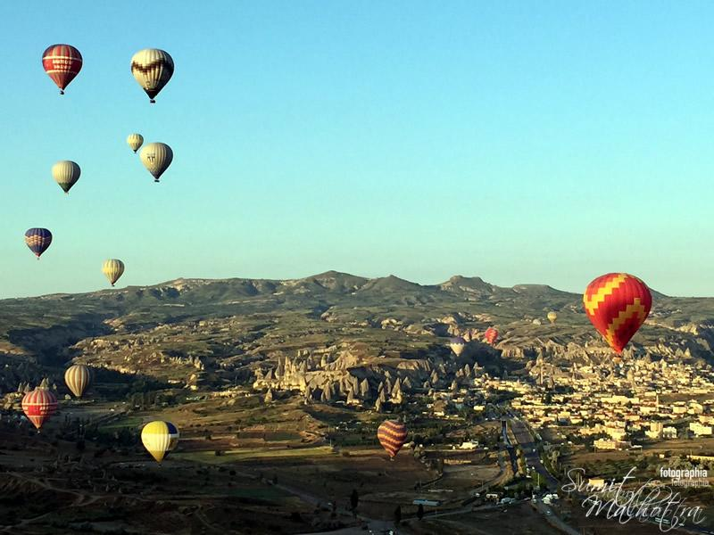As the Balloons Drift over Cappadocia