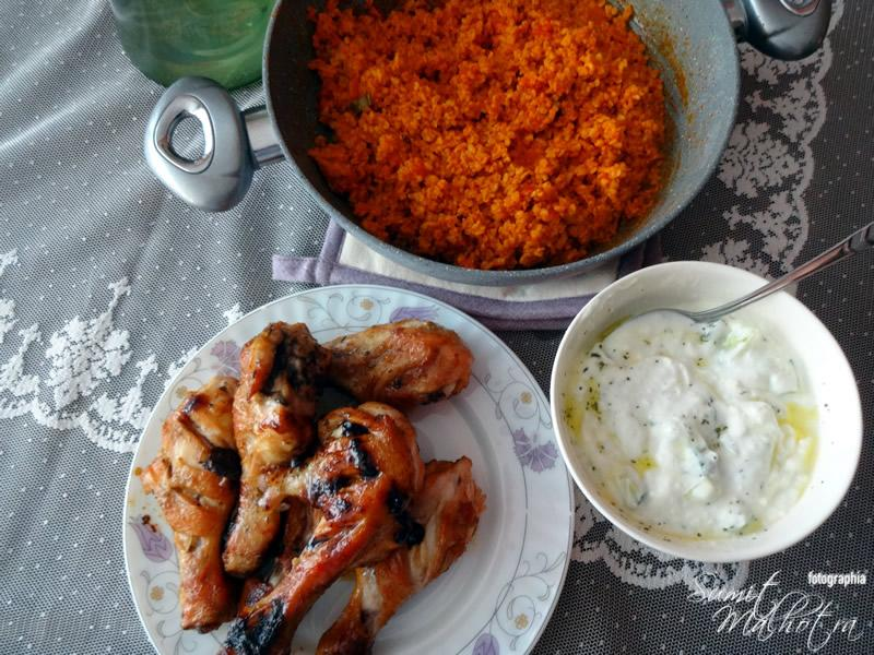 Roasted Chicken, Bulgur and Jejak