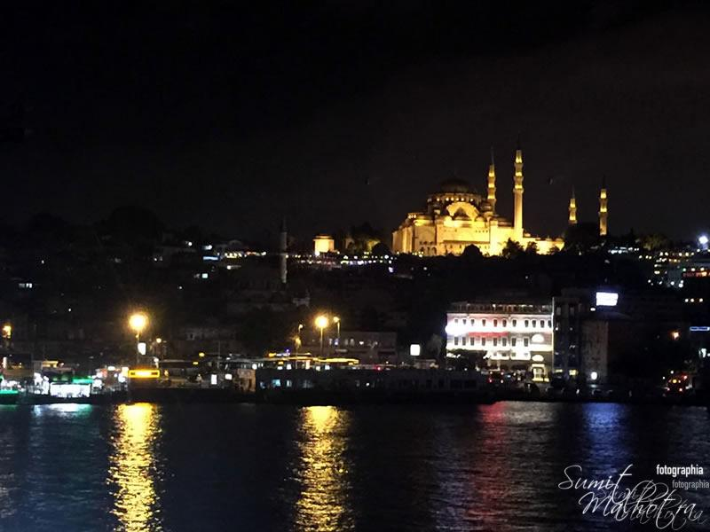 Süleymaniye Mosque Night Shot