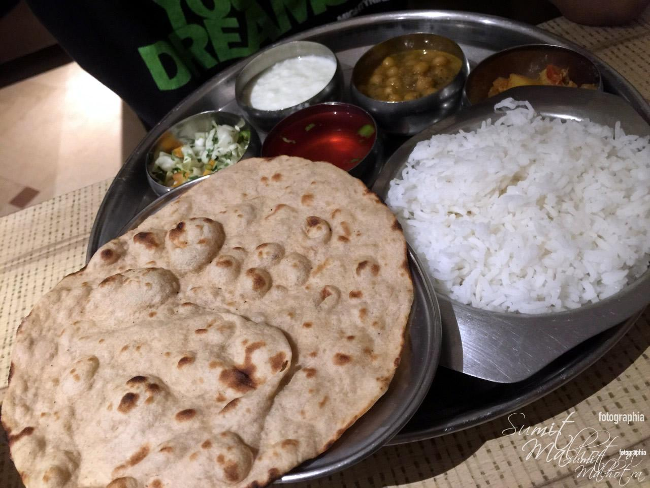 The Vegetarian Thali at Spice Goa