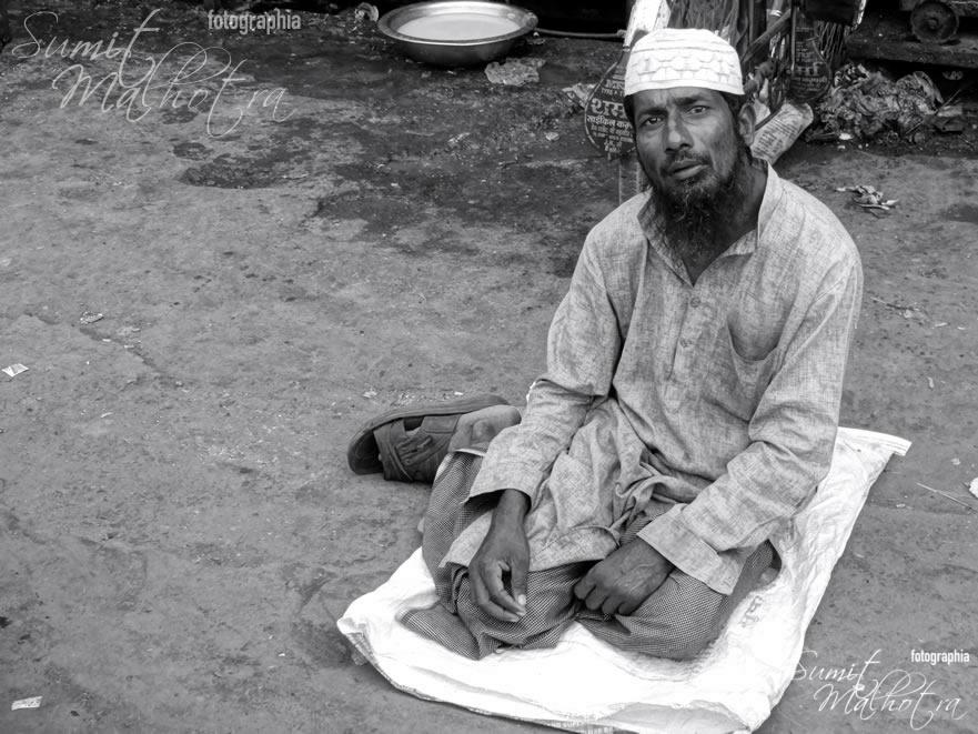 Beggar Outside Jama Masjid