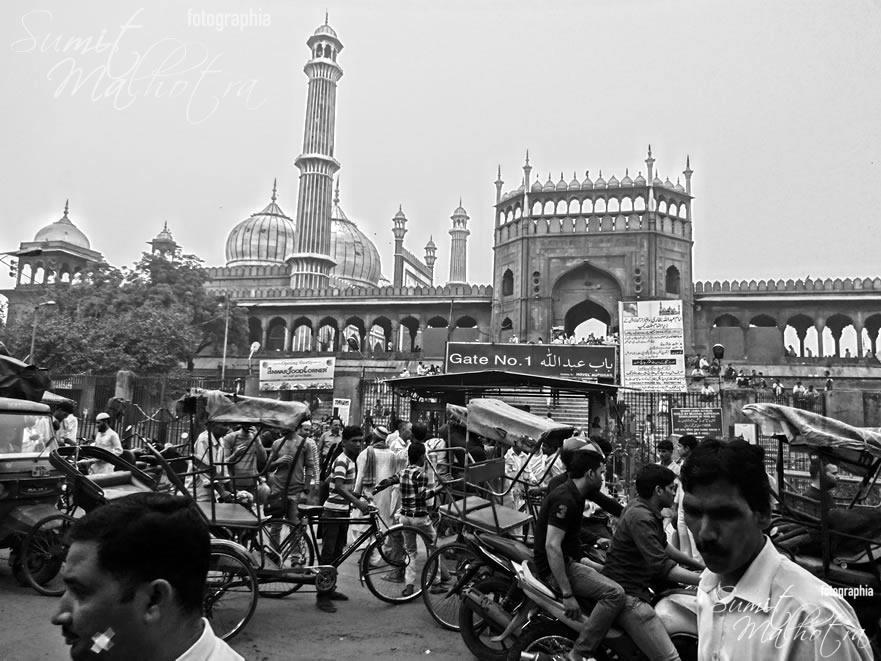 View of Jama Masjid from Matia Mahal