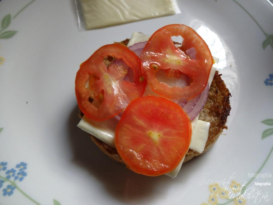 Layer with Three Tomato Slices if Smaller Sized