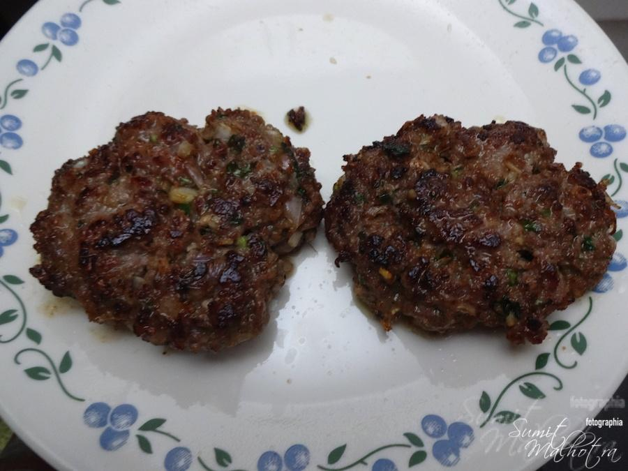 Mutton Burger Patty is all done