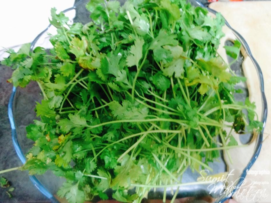 Clean and add coriander