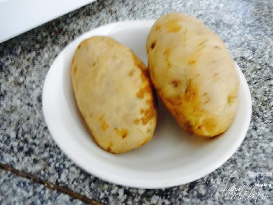 Finish boiling potatoes in a microwave