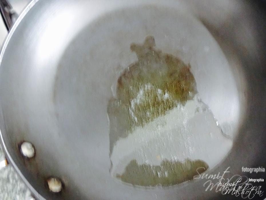 Heat Ghee in a Frying Pan