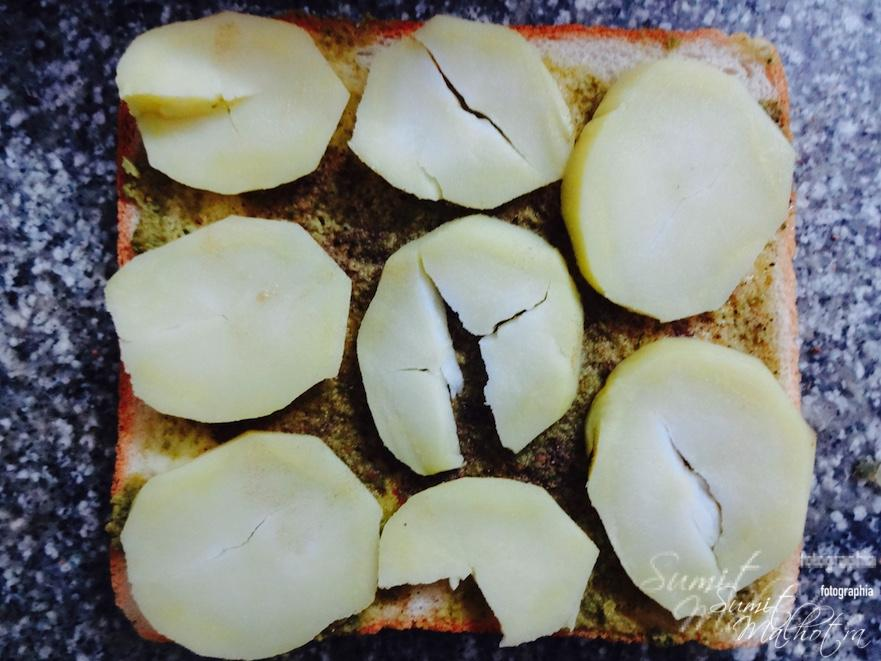 Layer with potato slices