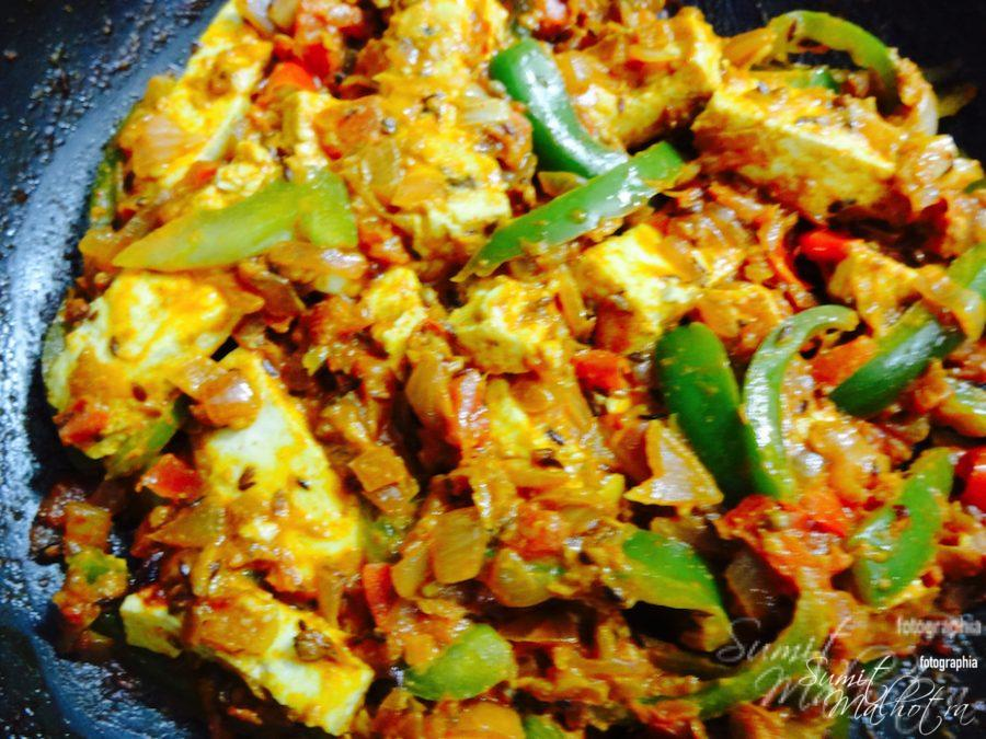 Mix well till paneer is evenly coated