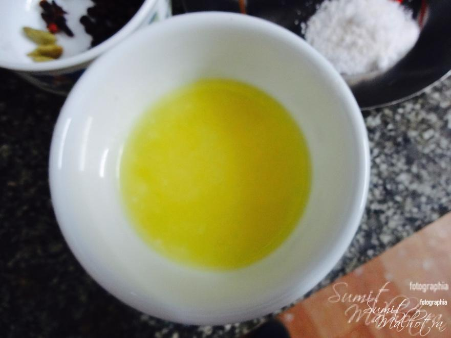 Two tablespoon of ghee
