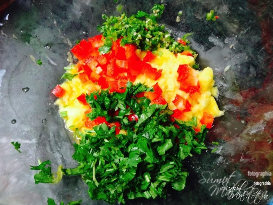 Add chopped green chillies
