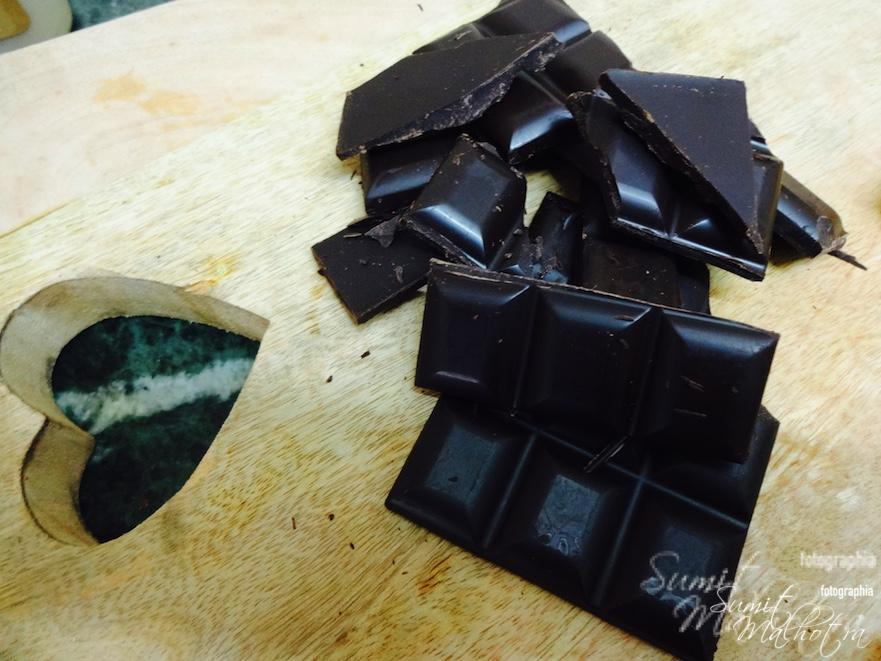 Break the chocolate