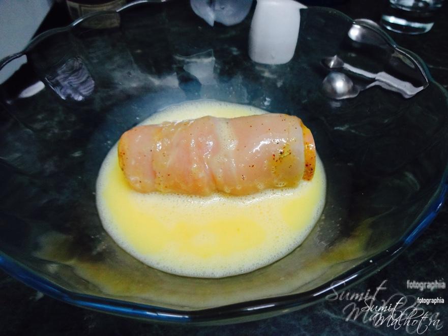 Dip nicely in egg wash