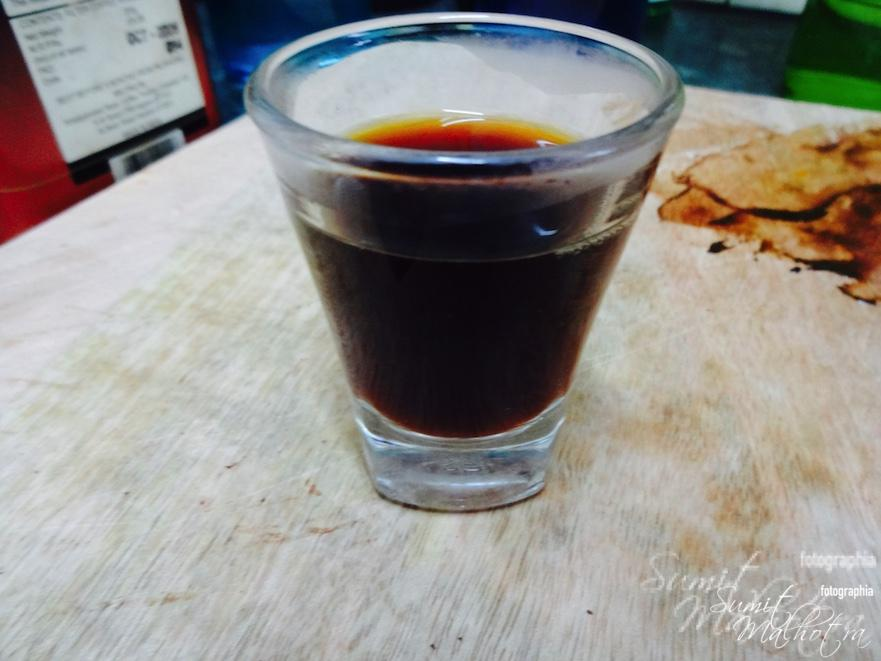 Mix in the shot of coffee