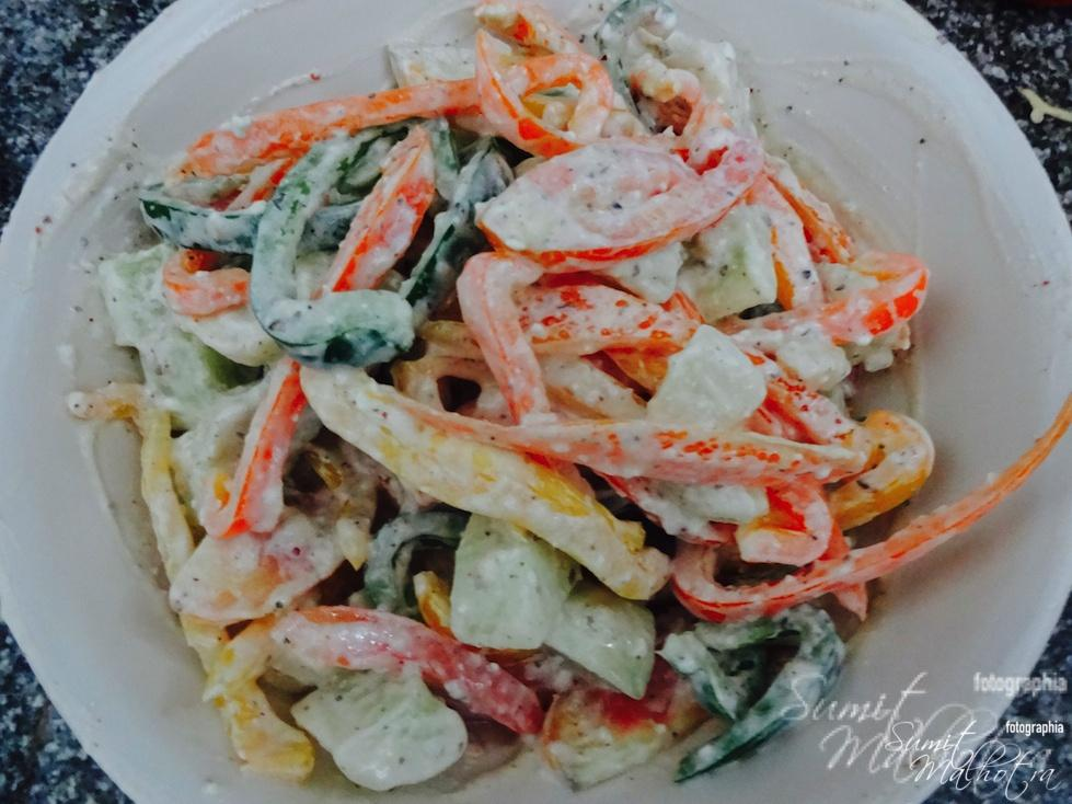 Mixed vegetables salad is ready