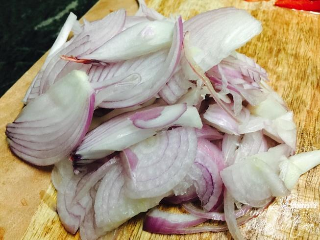 Slice onions
