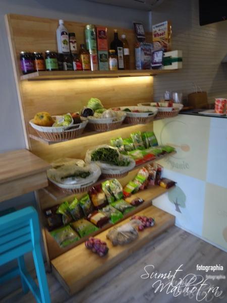 Organic produce on sale