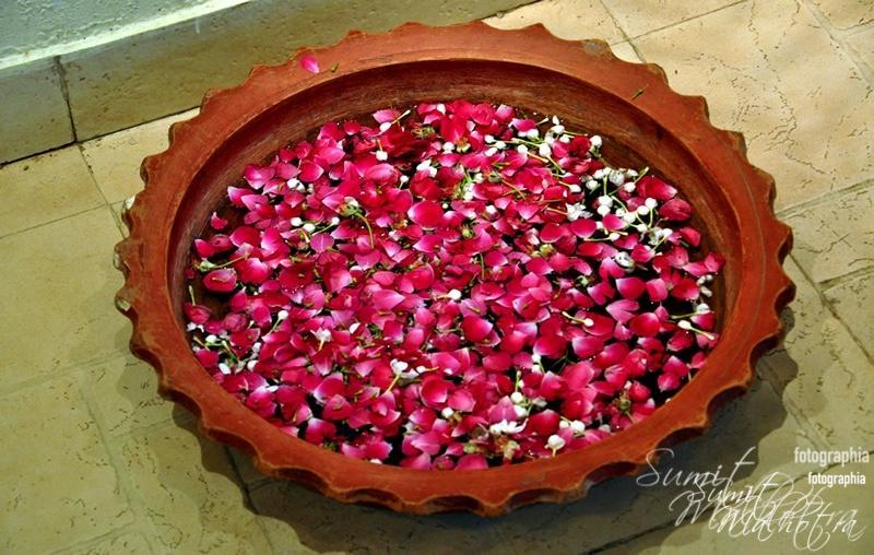 Urli with Fresh Rose Petals