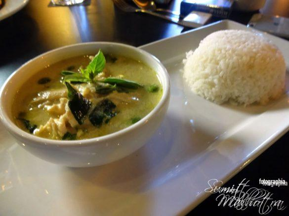 Thai Chicken Green Curry & Rice - Chiang Mai The Coffee Club