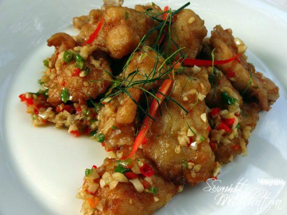 Stir-Fried Fish with Chilli & Garlic