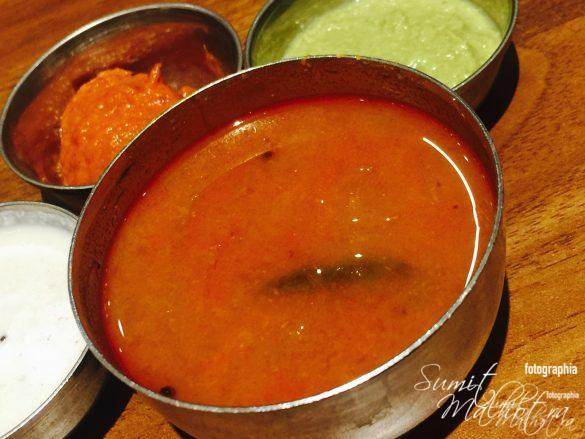 Sambhar With Chutneys