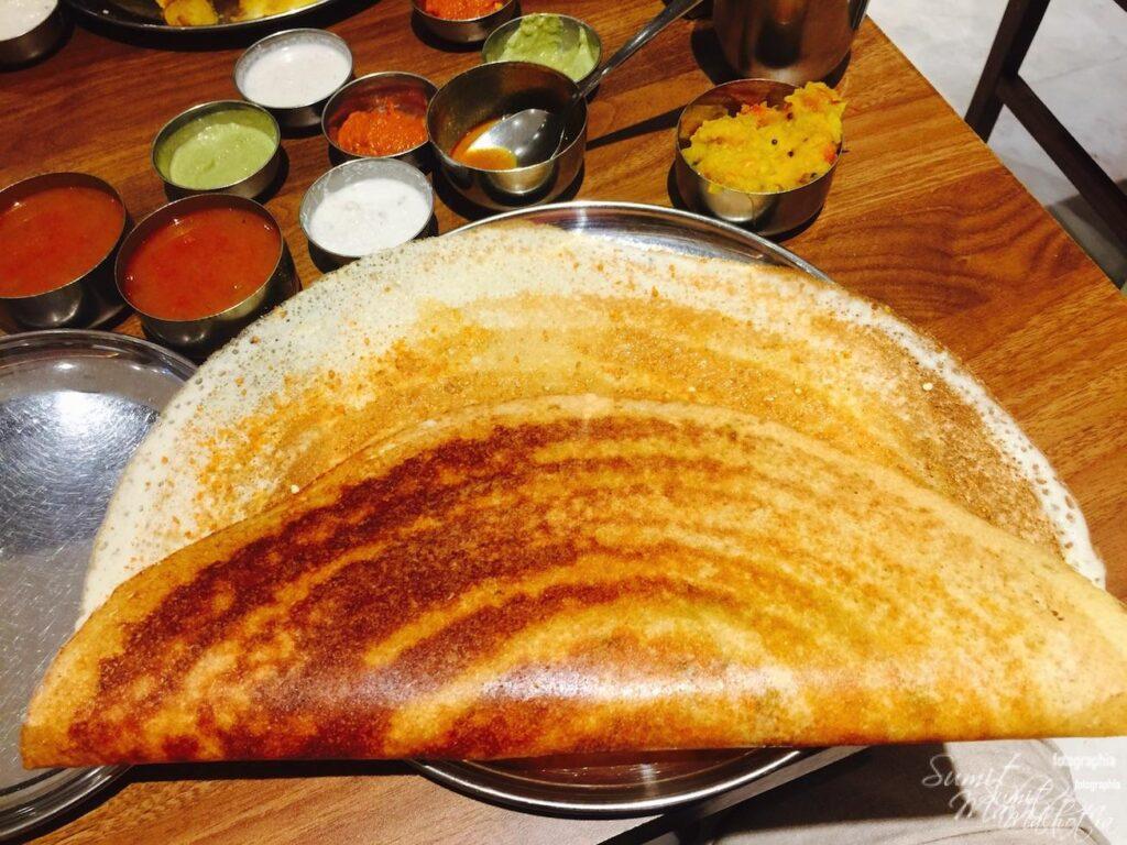 Podi Ghee Roast Masala Dosa at Sagar Ratna Sarojini Nagar