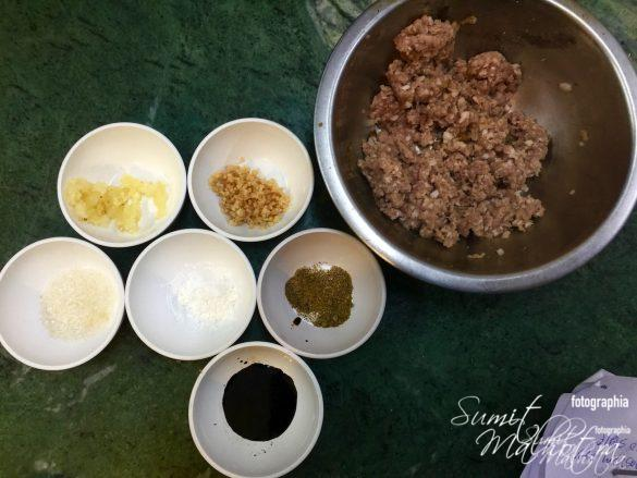 Ingredients for Chinese Pork Meatballs