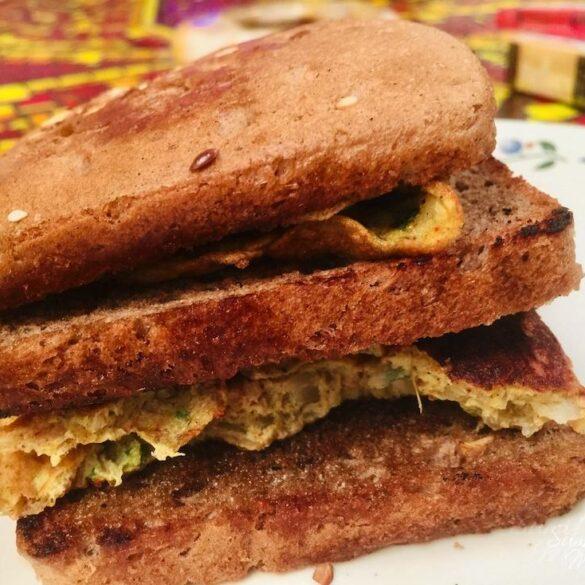 Indian Masala Omelette Sandwich