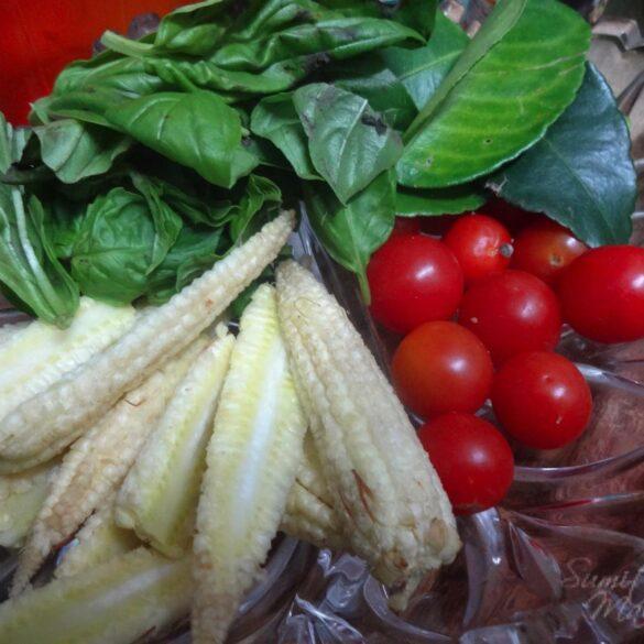 Veggies for Thai Chicken in Green Curry