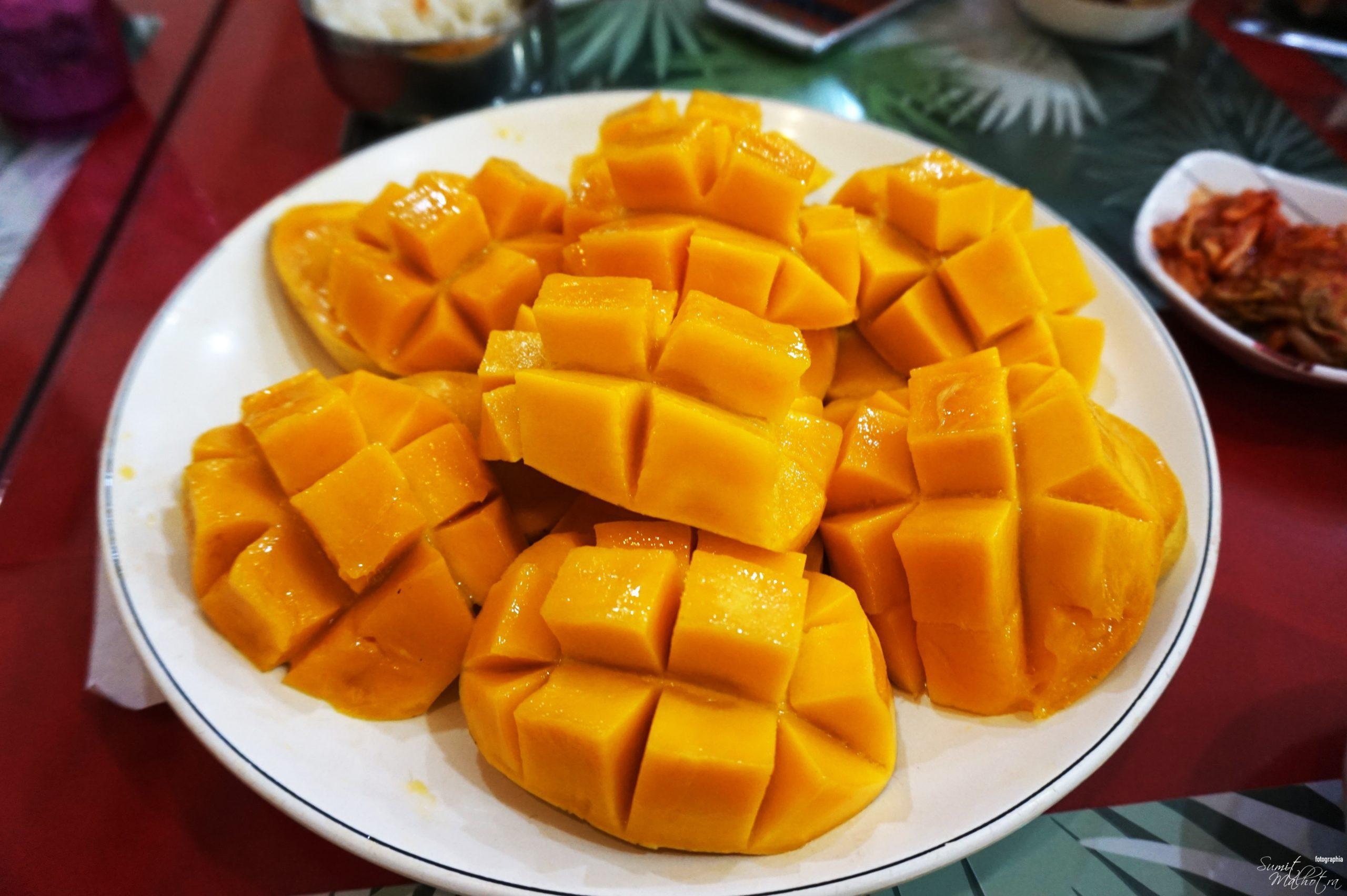 Sliced Mango for Mango Ice Cream