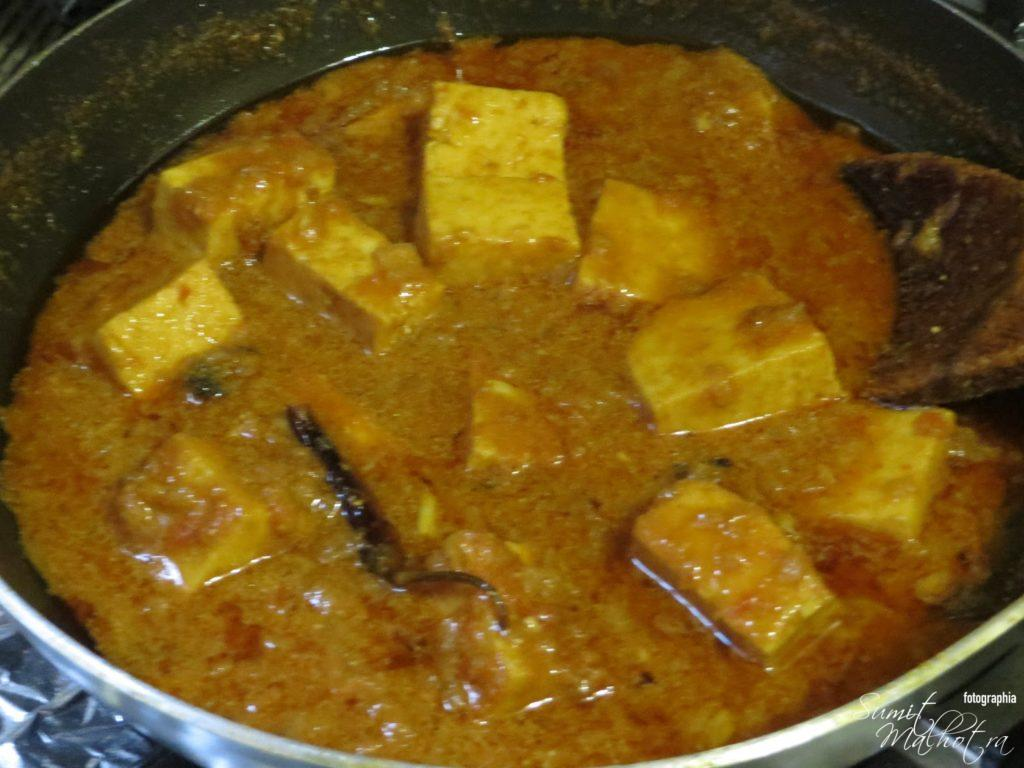 Paneer in Thick Gravy