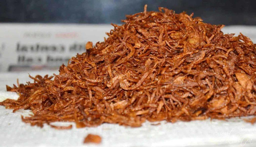 Crispy Fried Onions Recipe or Beresta