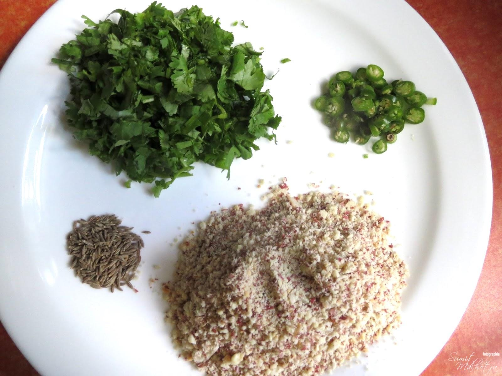 Ingredients for Sabudana Vada or Sabu Vada