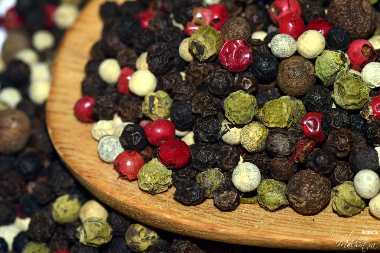 Green Pepper, White Pepper, Black Pepper